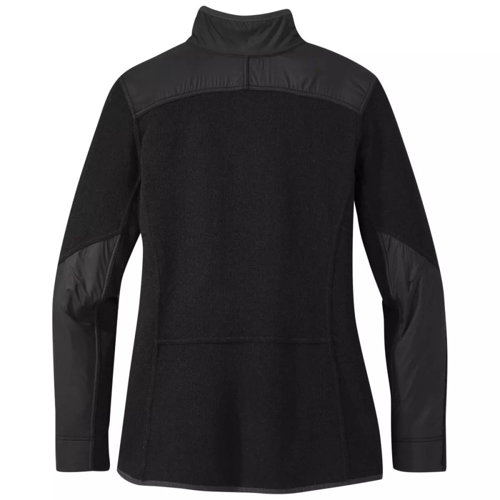 OUTDOOR RESEARCH Women's Cyprus 1/4-Zip Pullover - BLACK HEATHER - 0012