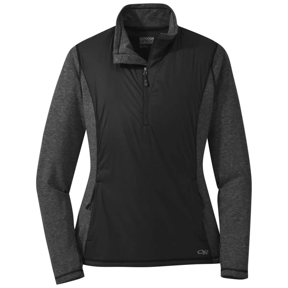 OUTDOOR RESEARCH Women's Melody Hybrid 1/2-Zip Jacket - BLACK - 0001
