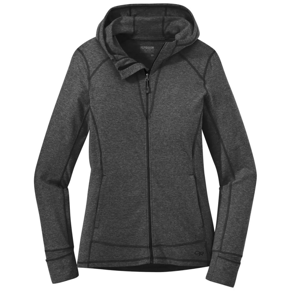 OUTDOOR RESEARCH Women's Melody Hoody - BLACK HEATHER - 0012