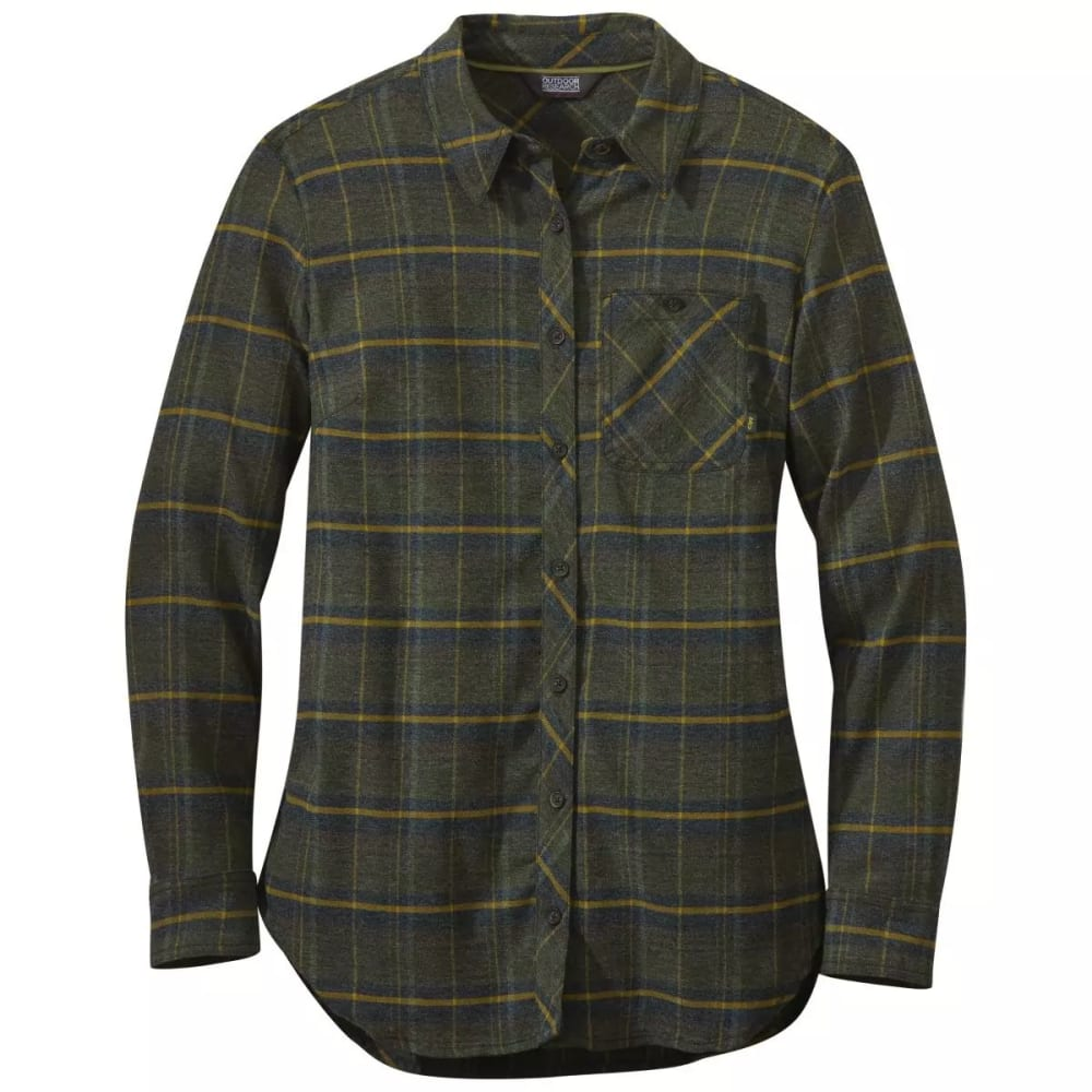 OUTDOOR RESEARCH Women's Kulshan Flannel Tunic Shirt - FOREST - 0600