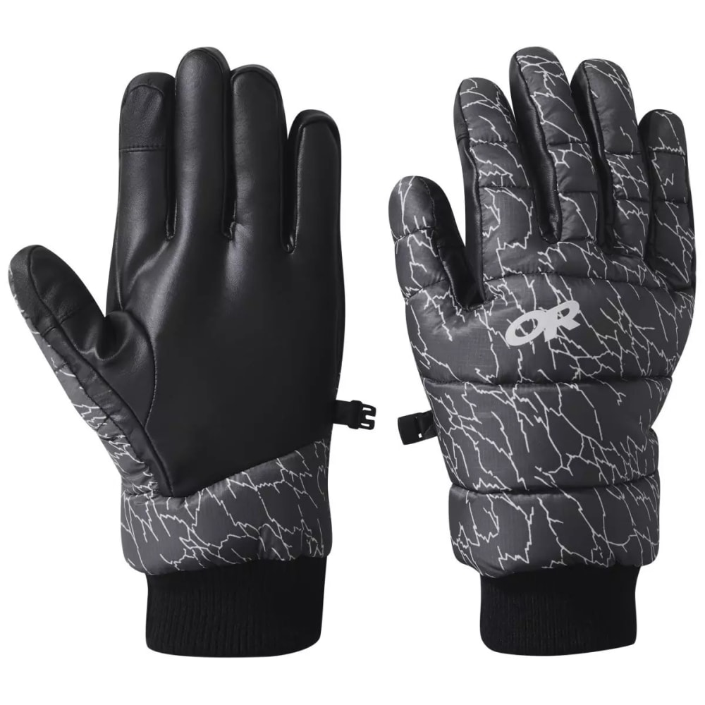 OUTDOOR RESEARCH Men's Transcendent Printed Down Gloves - STORM PRINT - 1621