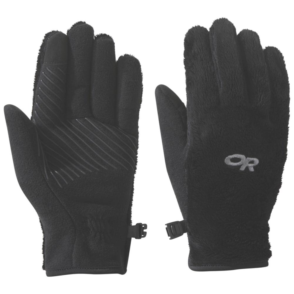 OUTDOOR RESEARCH Kids' Fuzzy Sensor Gloves - BLACK - 0001