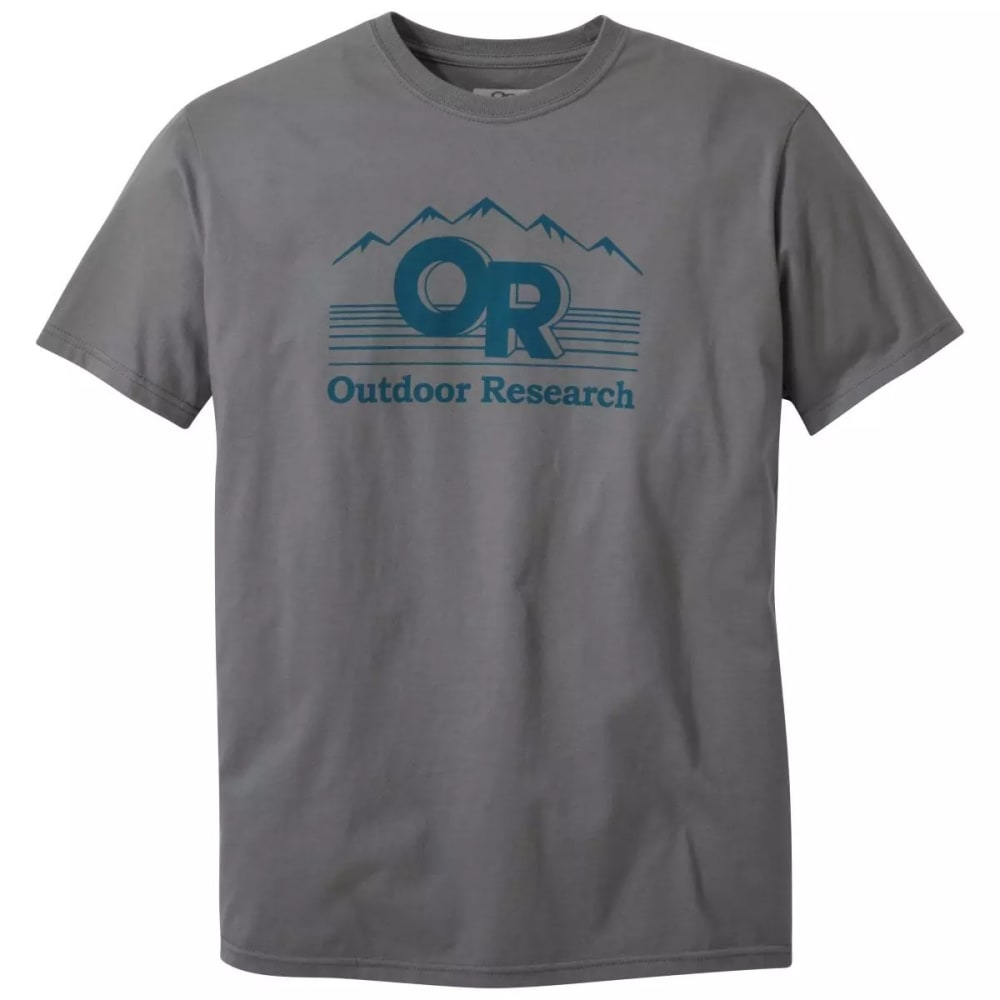OUTDOOR RESEARCH Men's Advocate Short-Sleeve Tee - CHARCOAL - 0890