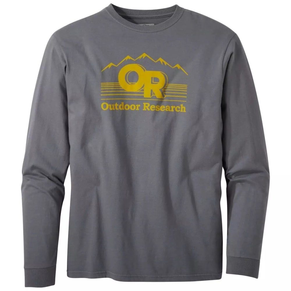 OUTDOOR RESEARCH Men's Advocate Long-Sleeve Tee - CHARCOAL - 0890