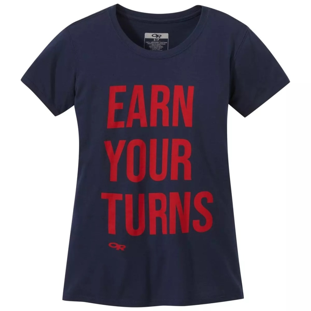 OUTDOOR RESEARCH Women's Earn Your Turns Short-Sleeve Tee M