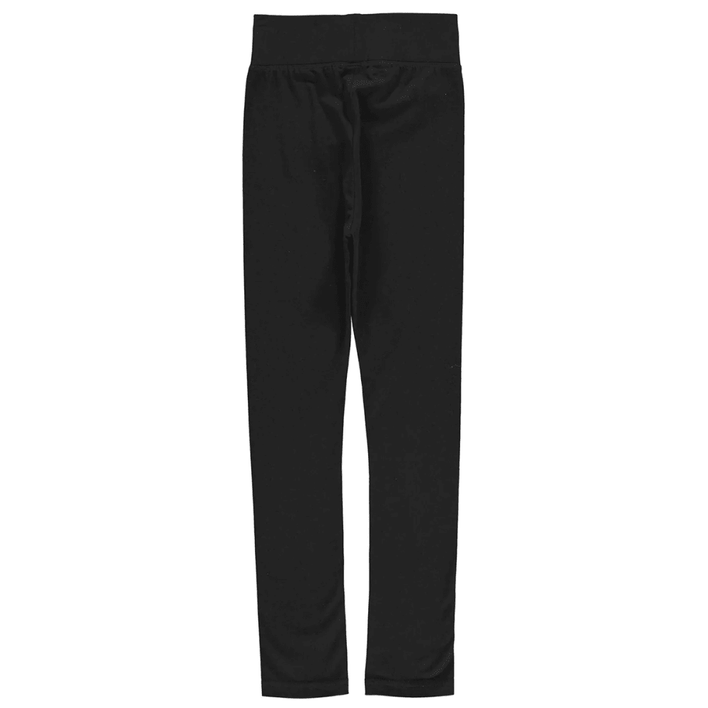 CRAFTED Girls' High Waist Leggings - BLACK