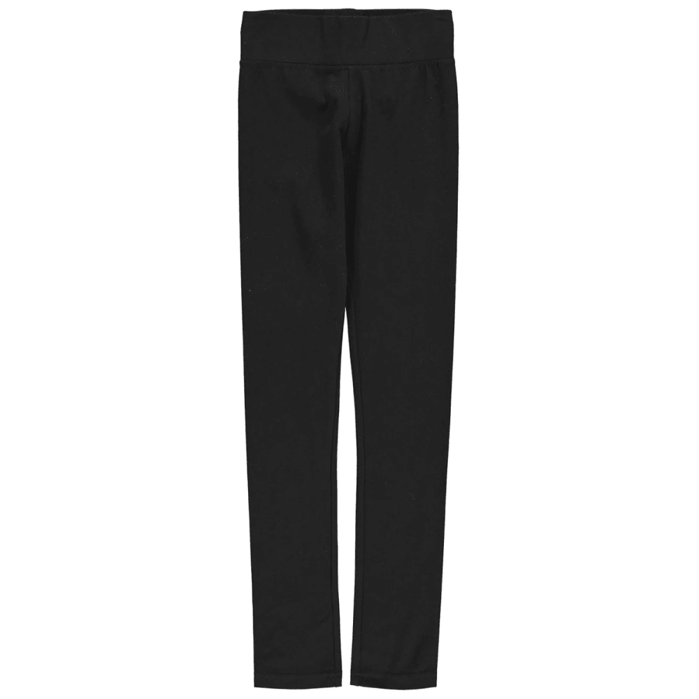 CRAFTED Girls' High Waist Leggings - BLACK