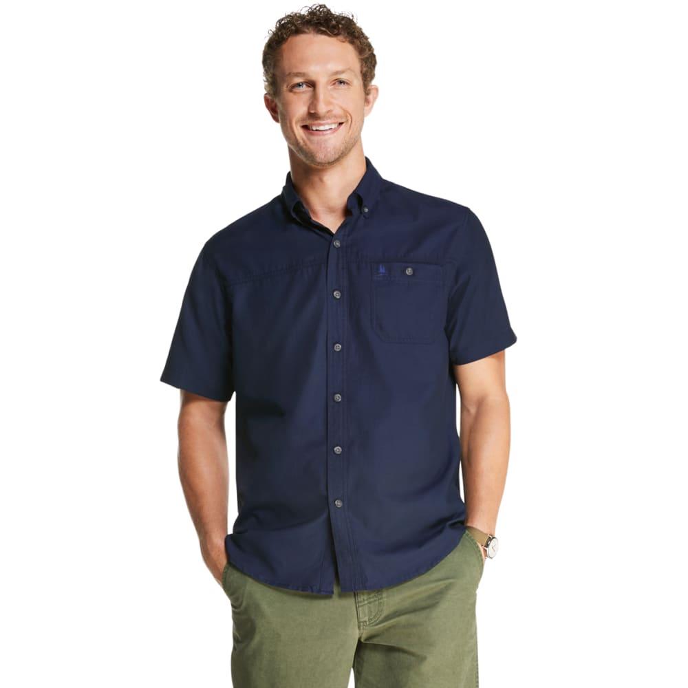 G.H. BASS Men's Bluewater Bay Short-Sleeve Shirt - NAVY BLAZER-410