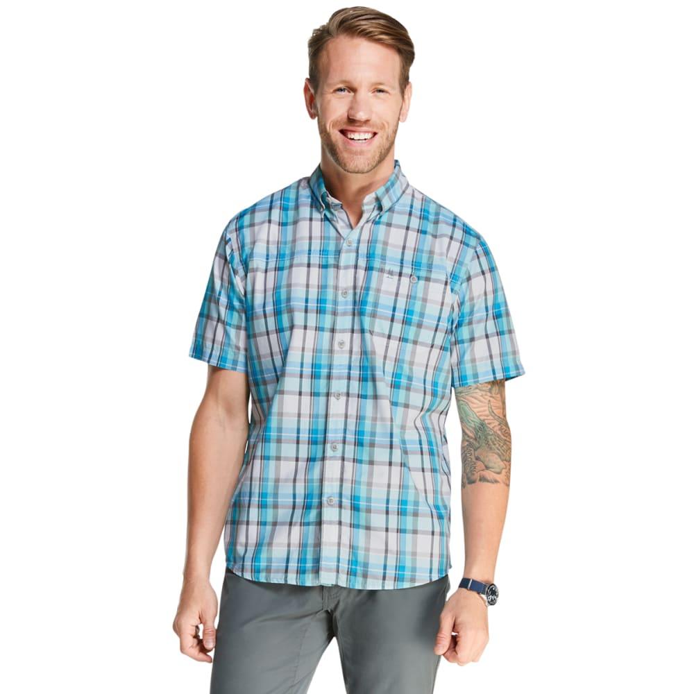 G.H. BASS Men's Bluewater Bay Plaid Short-Sleeve Shirt M