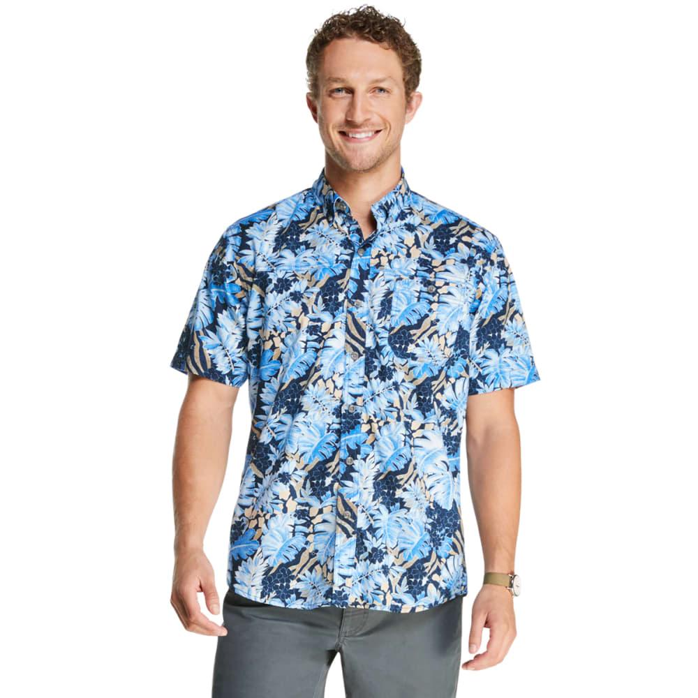 G.H. BASS Men's Bluewater Bay Printed Short-Sleeve Shirt M