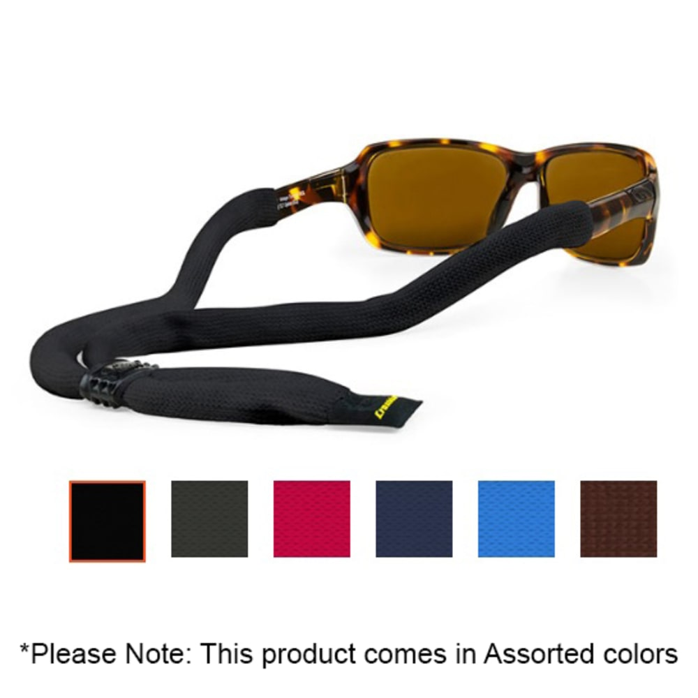 CROAKIES XL Solid Cotton Suiters Eyewear Retainer, Assorted Colors - ASSORTED
