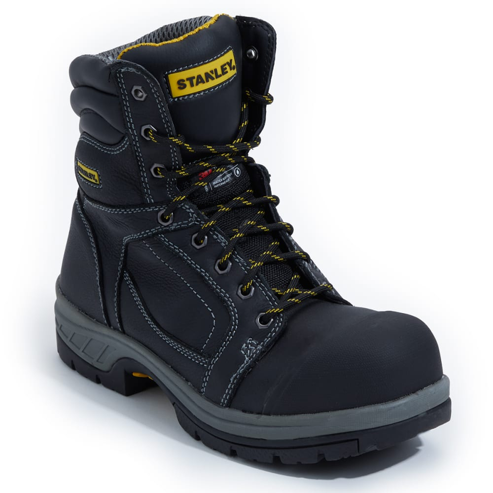 "STANLEY Men's CSA 8"" Work Boots - BLACK"