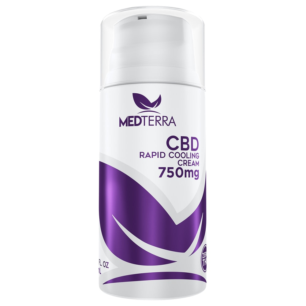 MEDTERRA 750 mg Topical CBD Cooling Cream, 3.4 oz. ONE SIZE