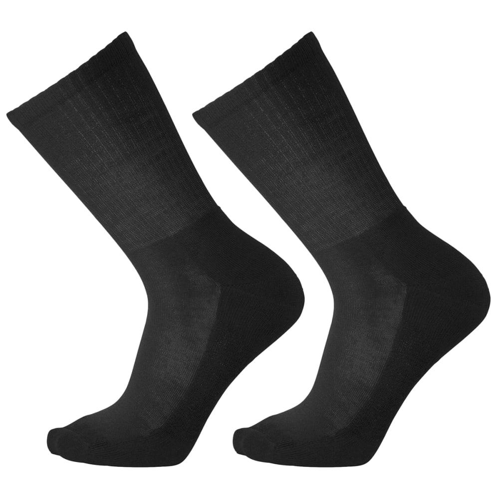 SMARTWOOL Men's Heathered Rib Crew Socks, 2 Pack M