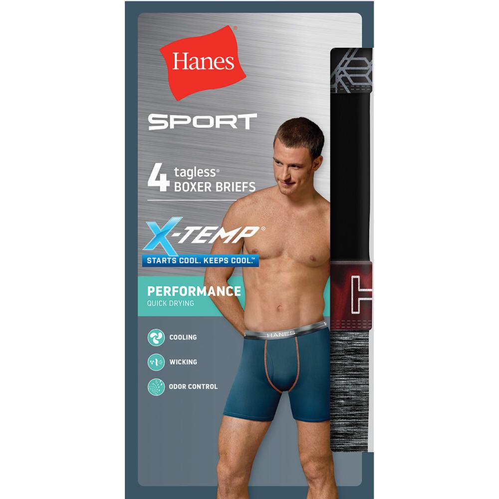 HANES X-Temp Performance Boxer Briefs, 4-Pack S