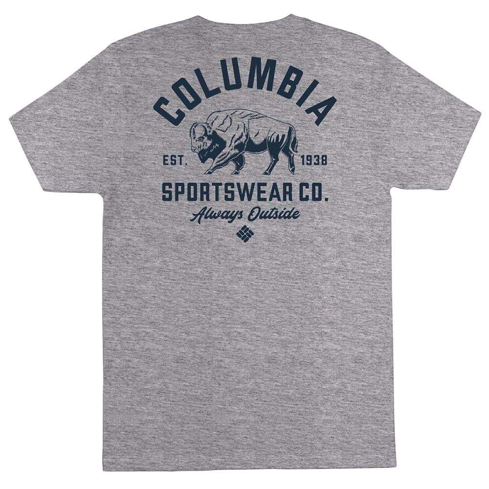 COLUMBIA Men's Short-Sleeve Graphic Tee - GREY HEATHER/RICHWIN