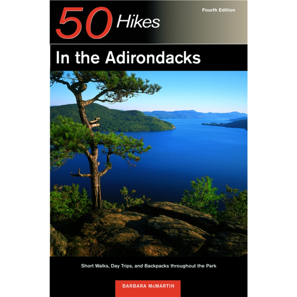 COUNTRYMAN PRESS 50 Hikes in the Adirondack Mountains Guide Book - NO COLOR
