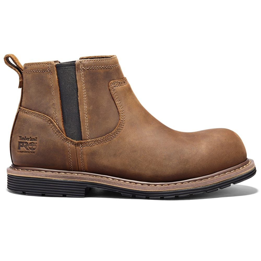 TIMBERLAND PRO Men's Millworks Chelsea Comp Toe Boot - 214 BROWN