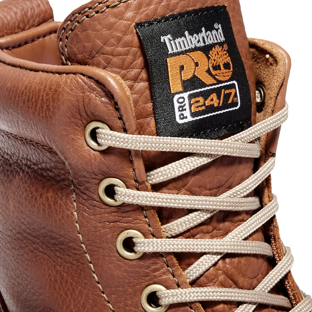 TIMBERLAND PRO Men's Soft Toe Wedge Boots - BROWN