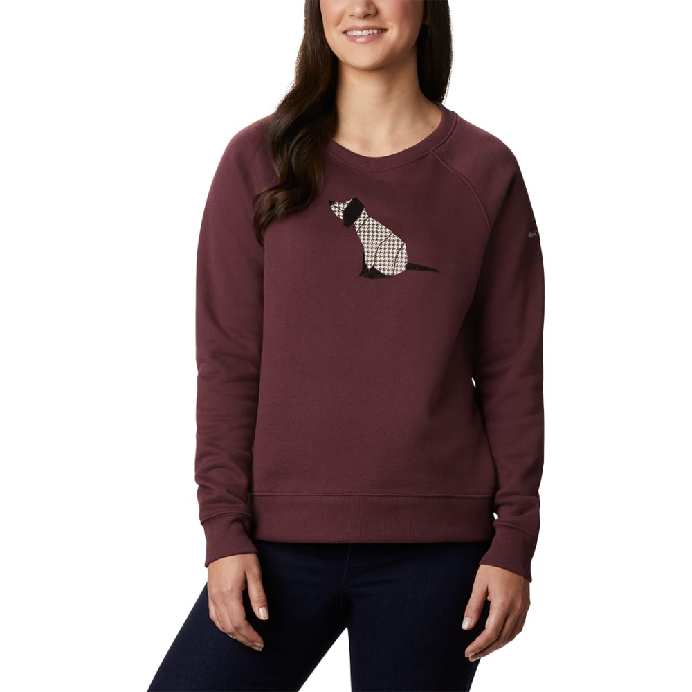 COLUMBIA Women's Hart Mountain Graphic Crewneck Sweatshirt XL