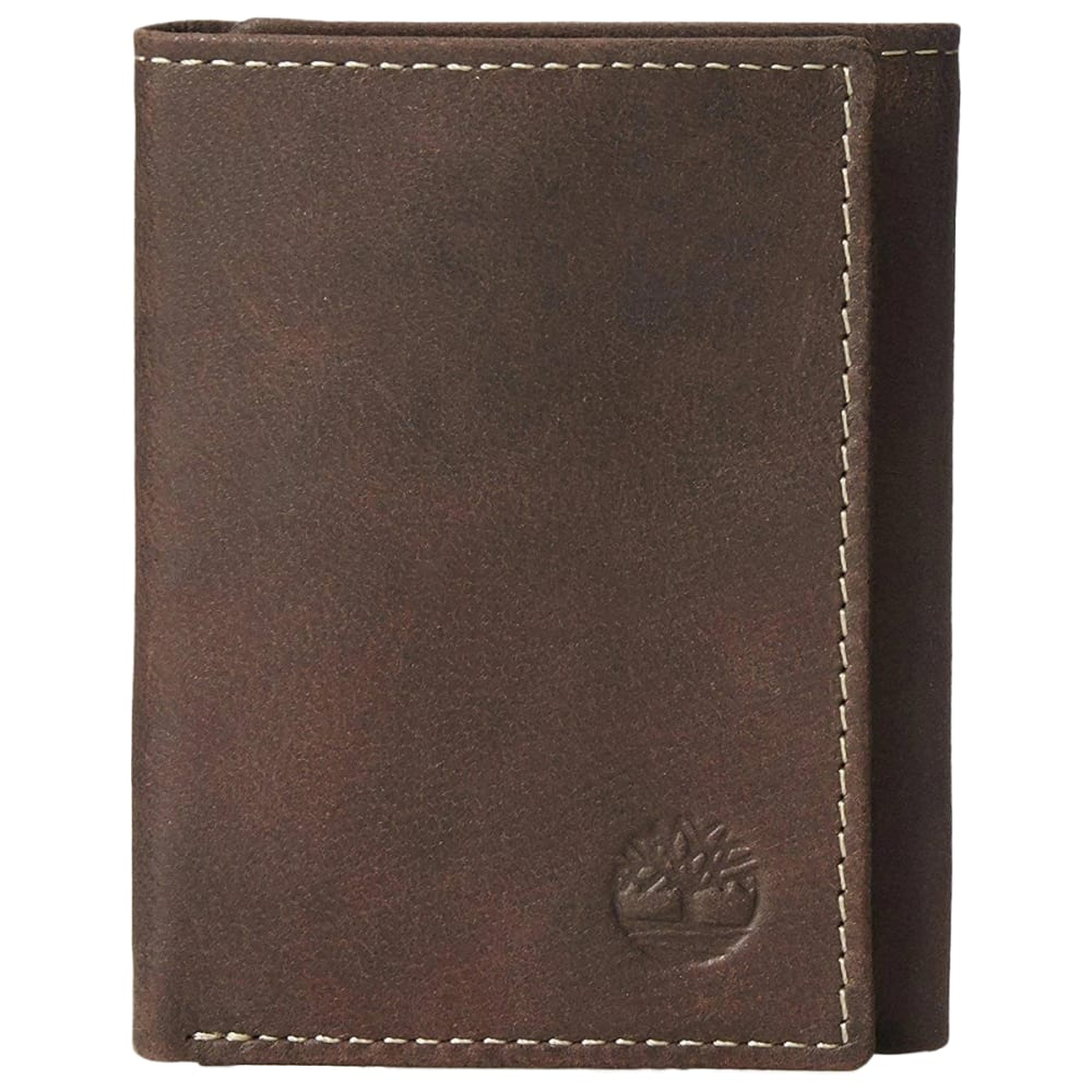 TIMBERLAND Men's Cloudy Trifold Wallet - BROWN