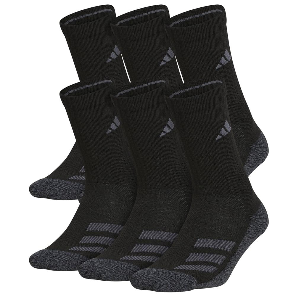 ADIDAS Youth Cushioned Angle Stripe Crew Socks, 6 Pack M