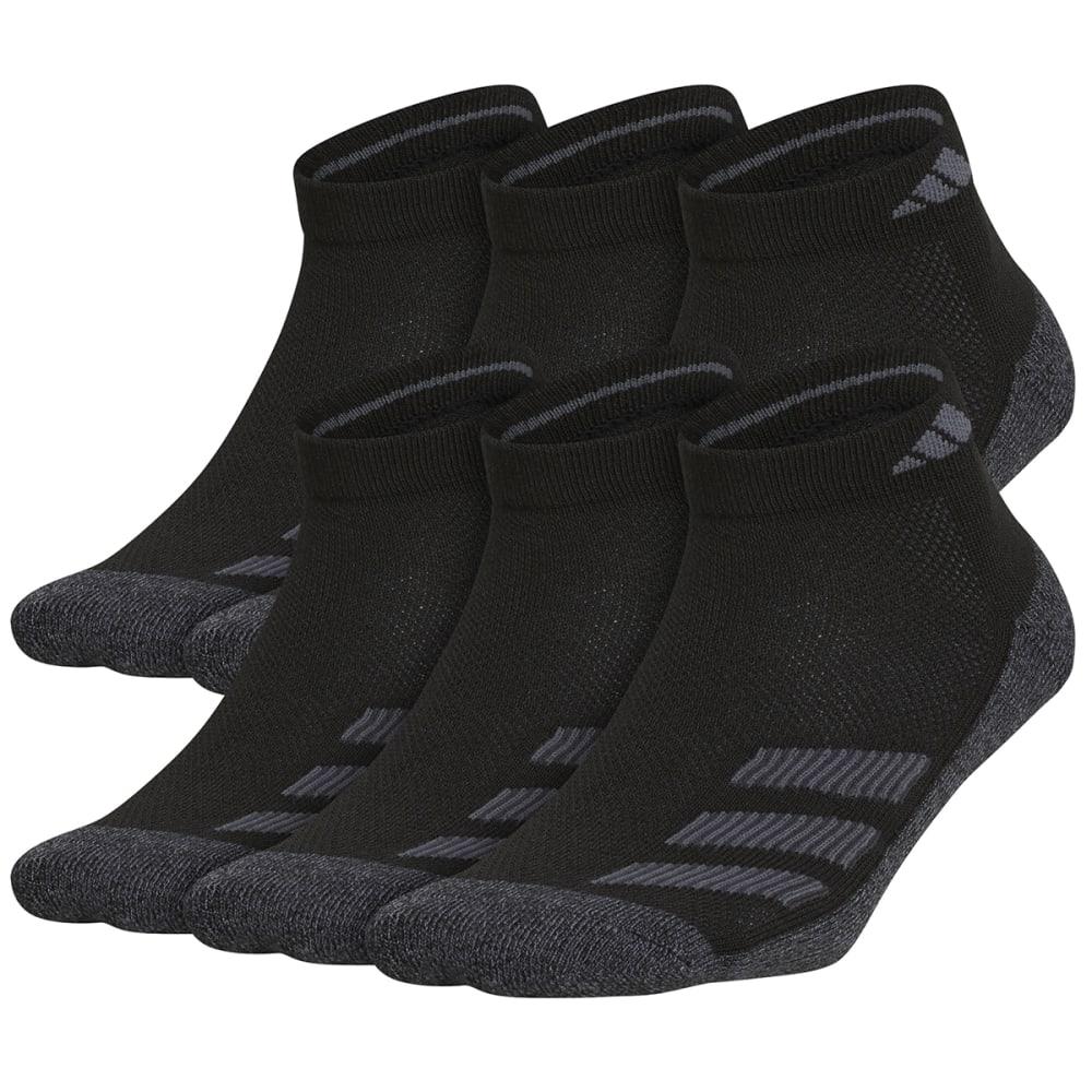 ADIDAS Boys' Cushioned Angle Stripe Quarter Socks, 6 Pack M