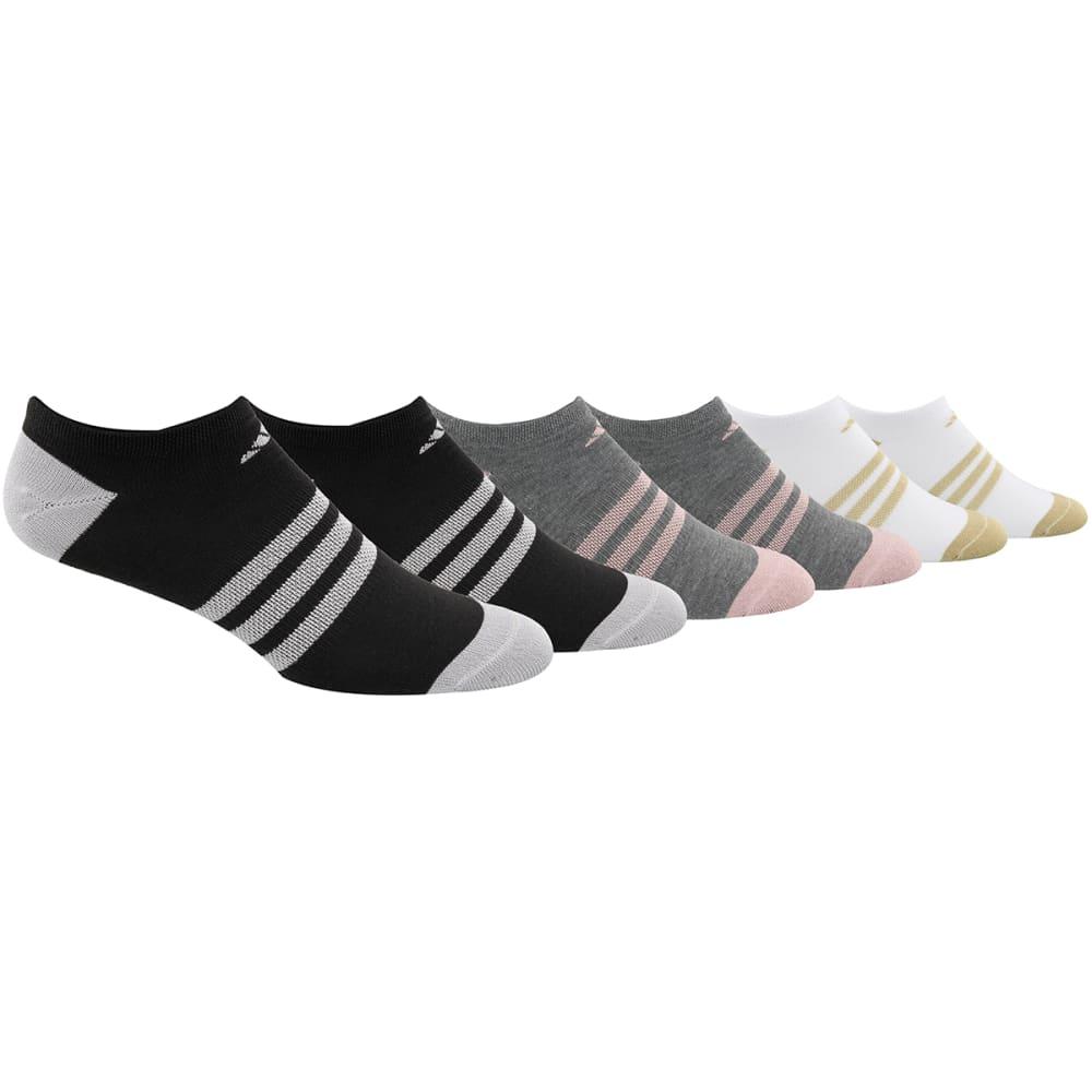 ADIDAS Women's Superlite No Show Socks, 6 Pack M