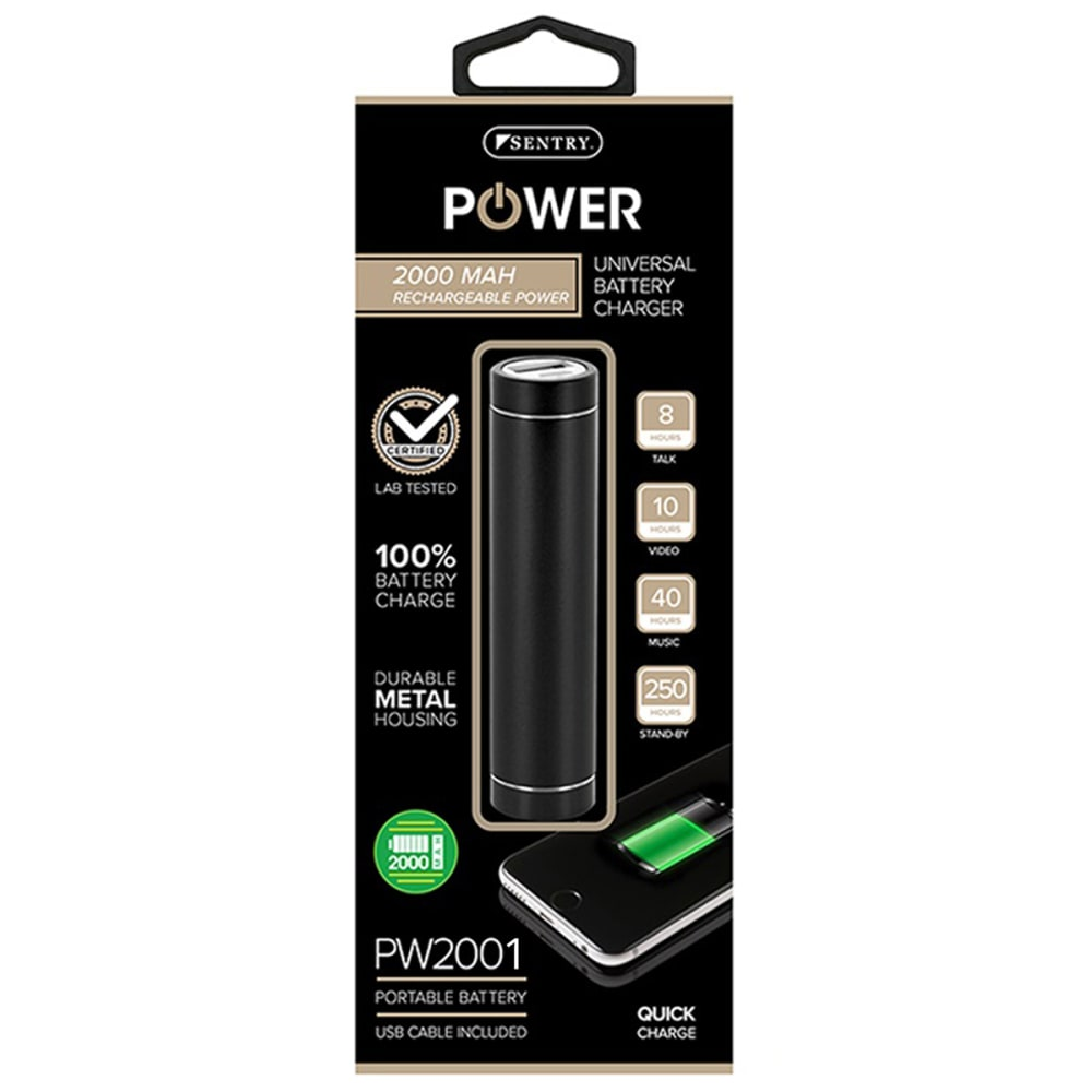 SENTRY Universal Battery Charger - 1-BLACK
