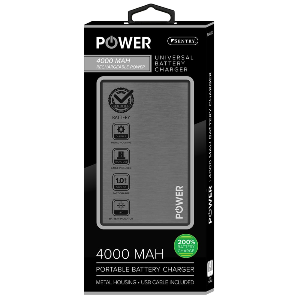 SENTRY Universal Battery Charger - BLACK