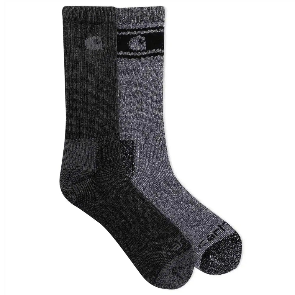 CARHARTT Men's Wool Blend Crew Socks, 4 Pack L