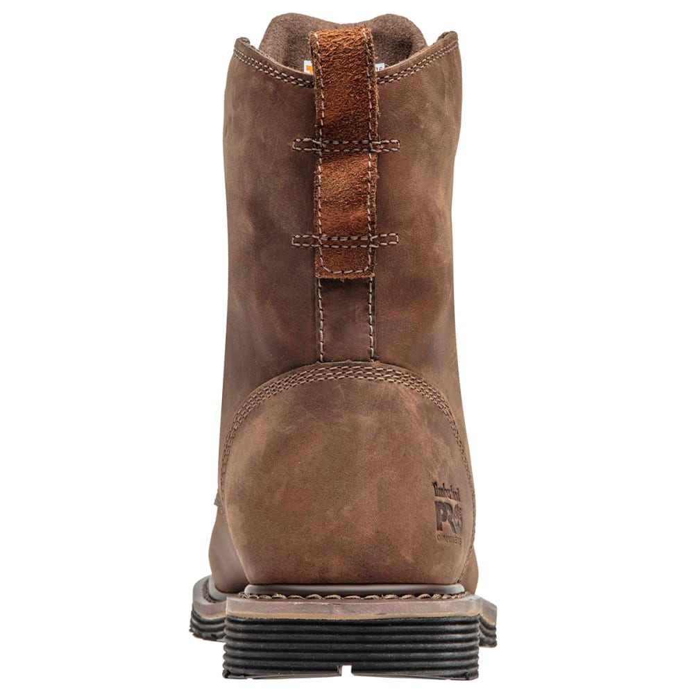 "TIMBERLAND PRO Men's Millworks 8"" Waterproof Composite Toe Work Boot - BROWN"