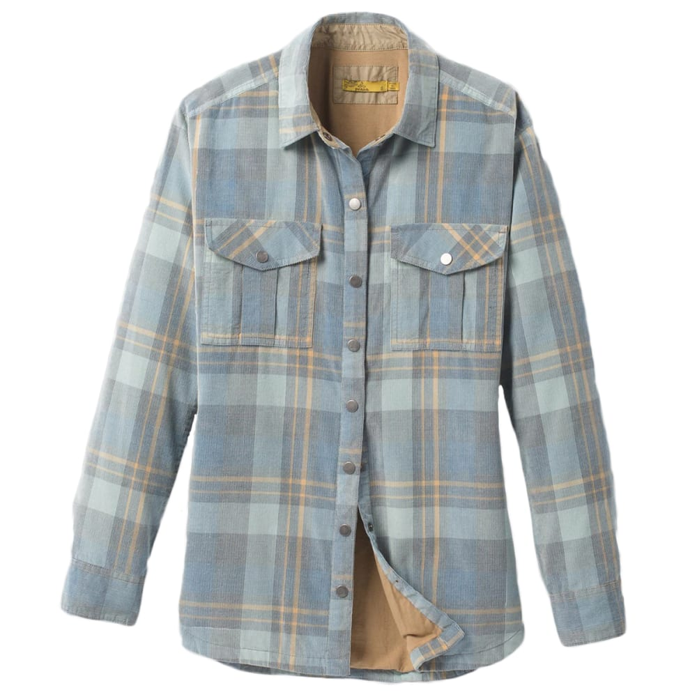 PRANA Women's Finnegan Corduroy Button-Down Shirt-Jacket S