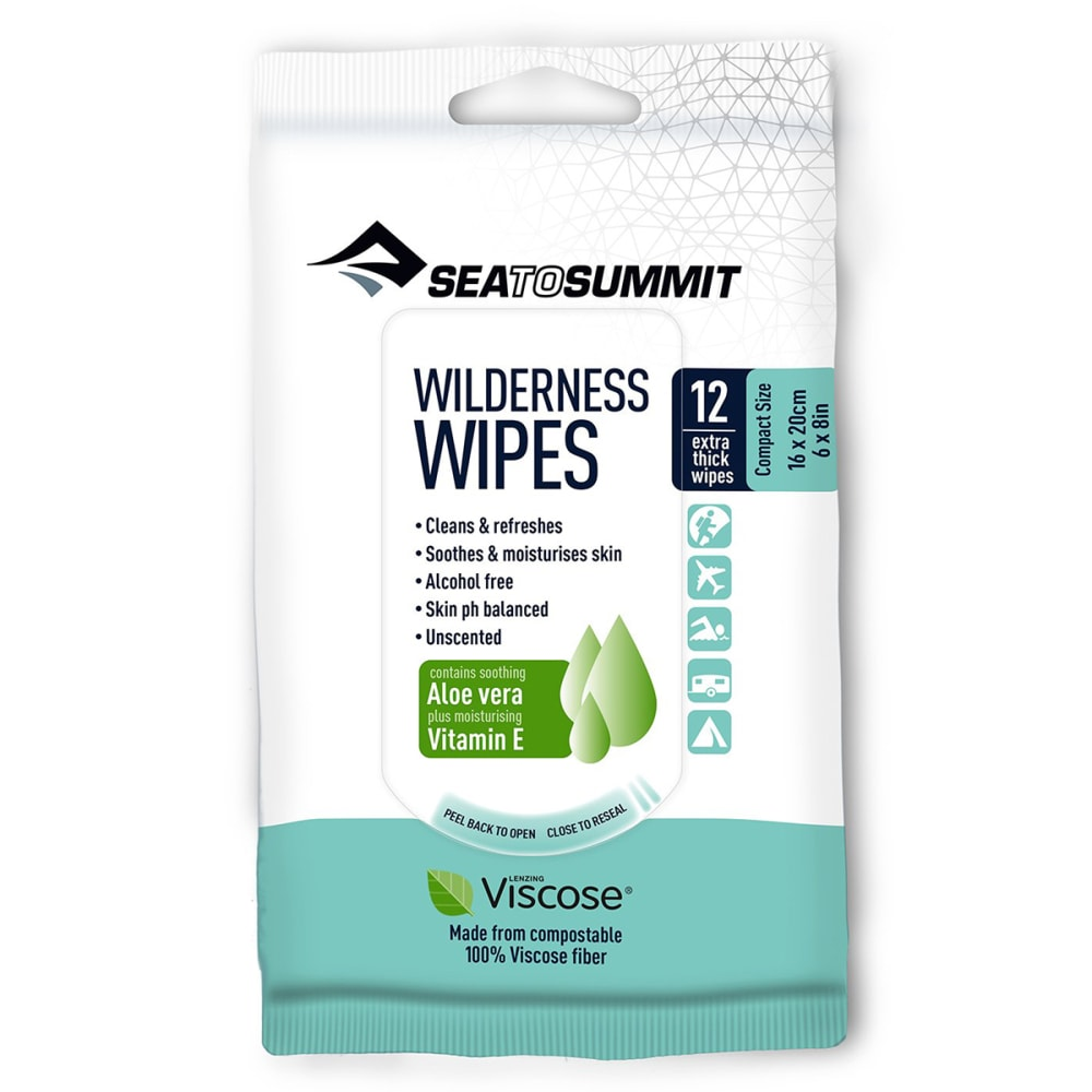 SEA TO SUMMIT Wilderness Wipes, 12 Pack NO SIZE