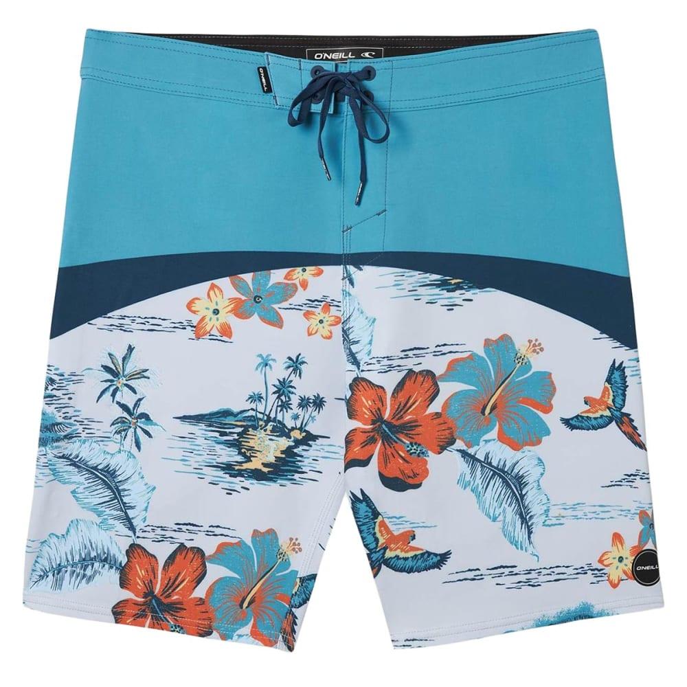O'NEILL Men's Hyperfreak Floral Boardshorts 30
