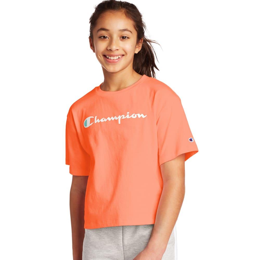 CHAMPION Girls' Boxy Cropped Short Sleeve Tee S