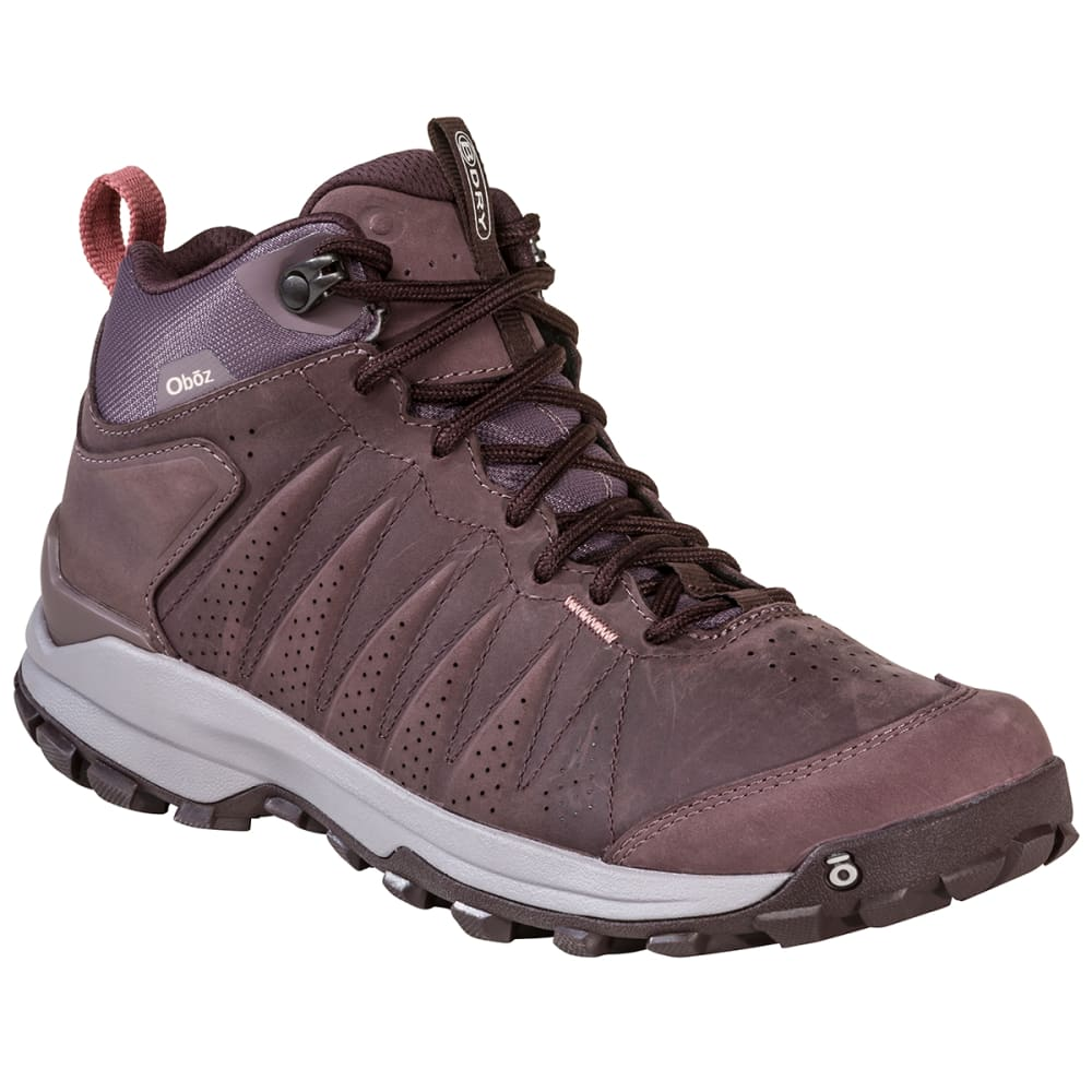 OBOZ Women's Sypes Mid Leather B-DRY Hiking Shoe 7