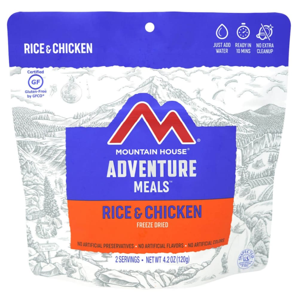 MOUNTAIN HOUSE Rice and Chicken Freeze-Dried Meal NO SIZE