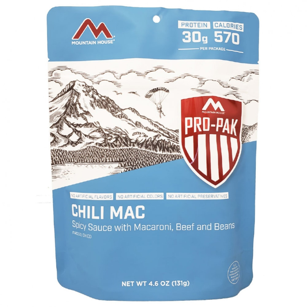 MOUNTAIN HOUSE Pro-Pak Chili Mac with Beef Freeze-Dried Meal NO SIZE