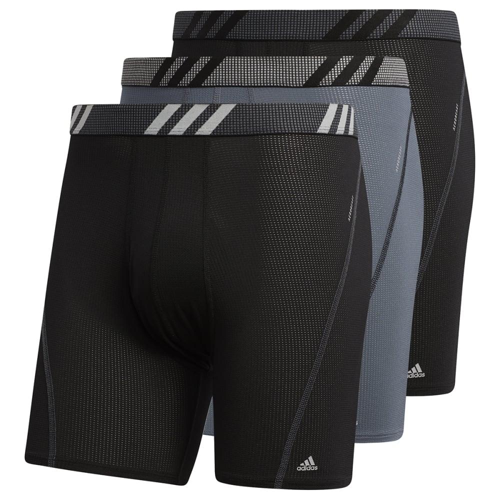 ADIDAS Men's Sport Performance Mesh Boxer Brief, 3 Pack S
