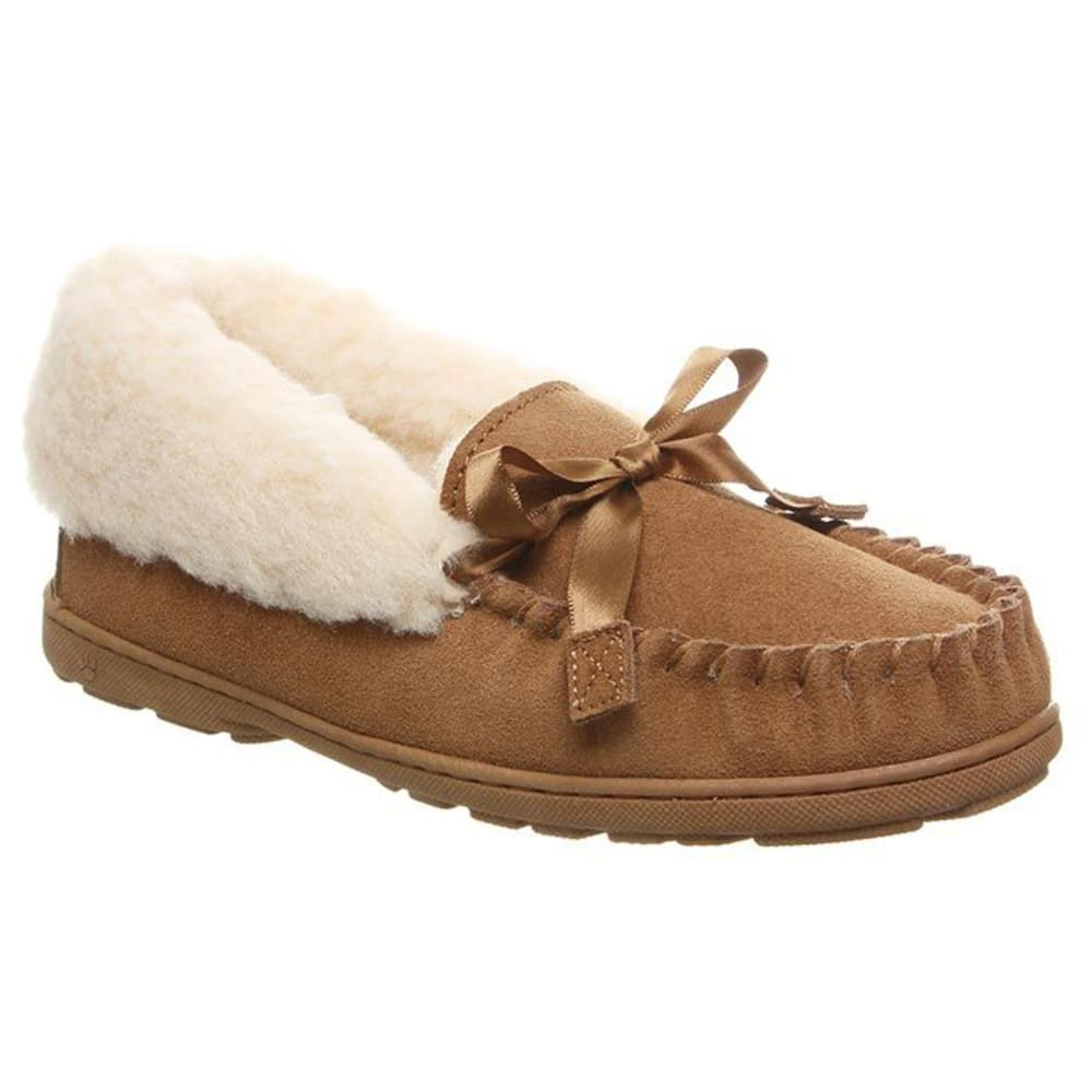 BEARPAW Women's Indio Spillout Fur Moc Slippers 6