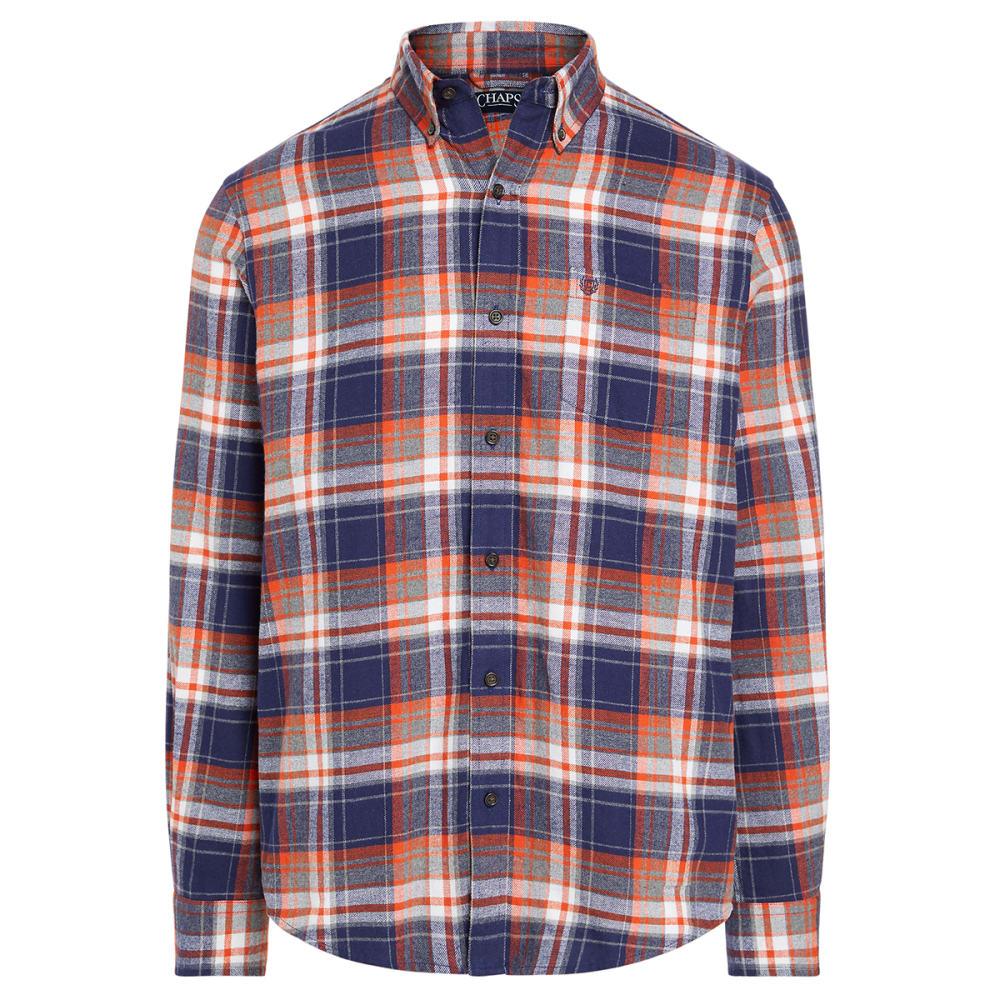 CHAPS Men's Classic-Fit Performance Flannel Button-Down Shirt M
