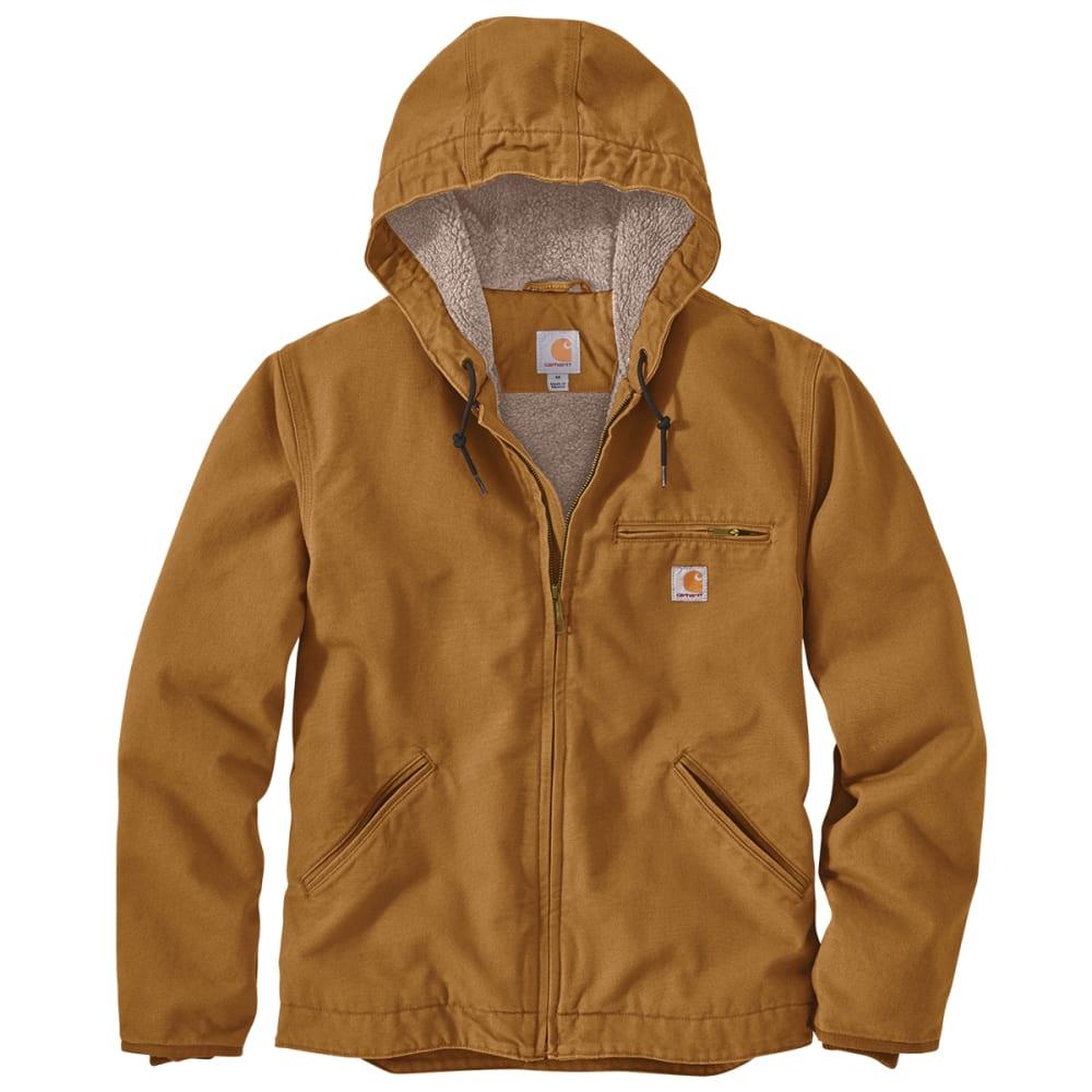 CARHARTT Men's Washed Duck Sherpa-Lined Jacket L