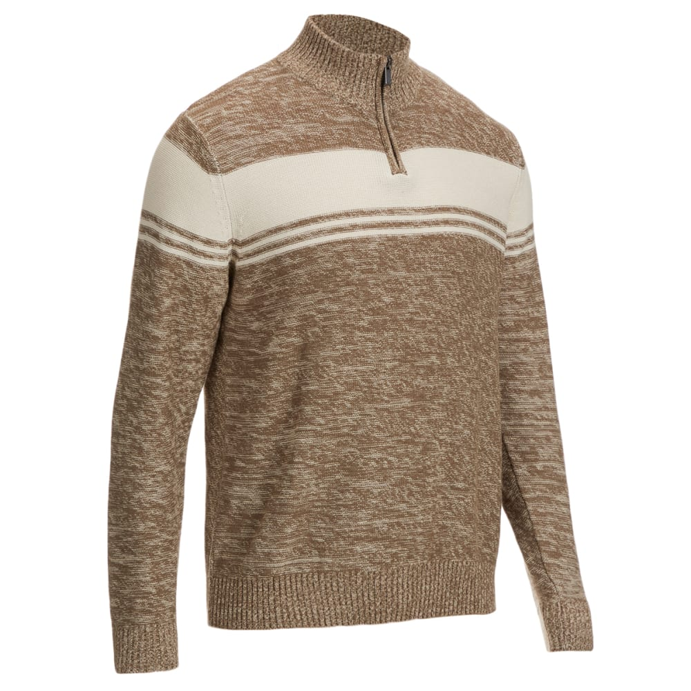 TRICOT ST. RAPHAEL Men's 1/4-Zip Marl Sweater S