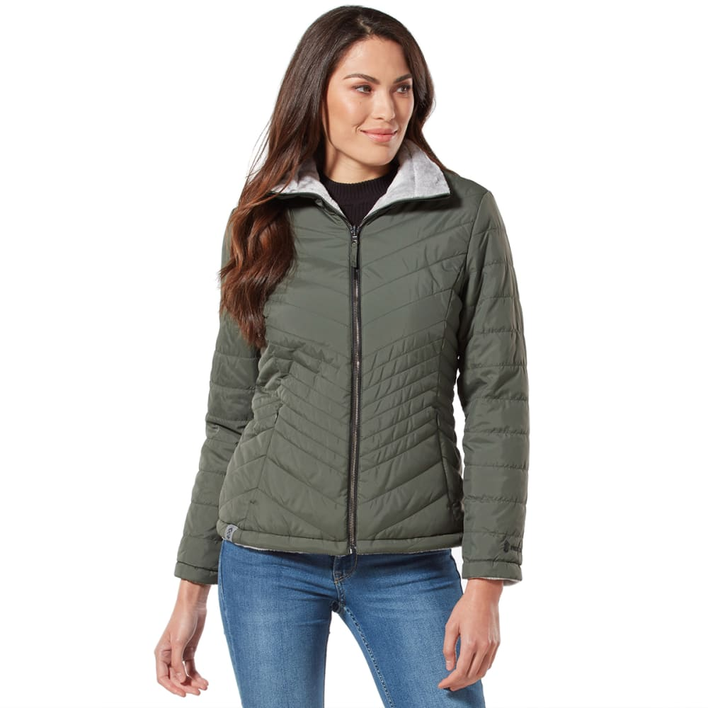 FREE COUNTRY Women's Cloud Reversible Puffer Jacket S