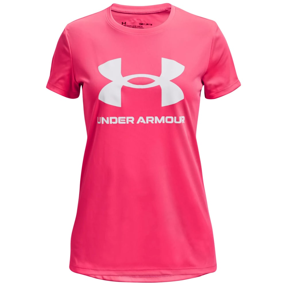 UNDER ARMOUR Girls' UA Tech Sportstyle Short Sleeve Tee M