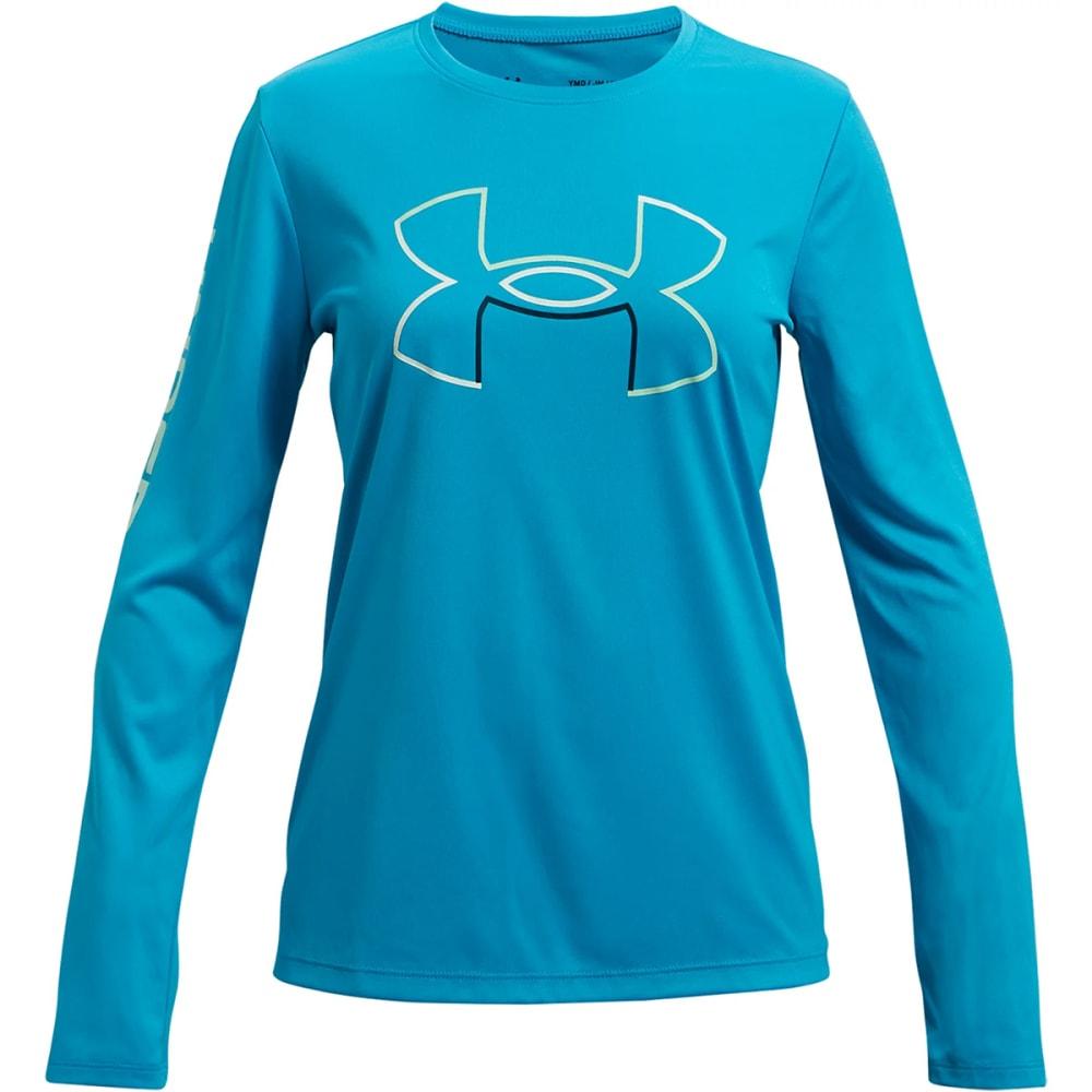 UNDER ARMOUR Girls' UA Tech Long Sleeve Tee S