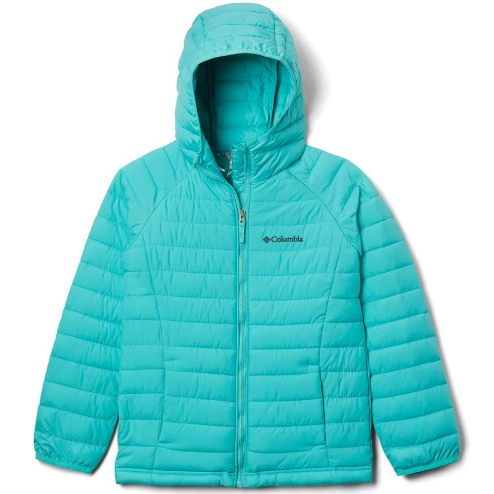 COLUMBIA Girls' Powder Lite Hooded Jacket S