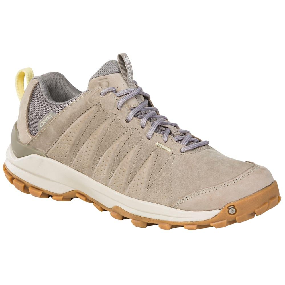 OBOZ Women's Sypes Low Leather B-DRY Hiking Shoe, Wide Width 6