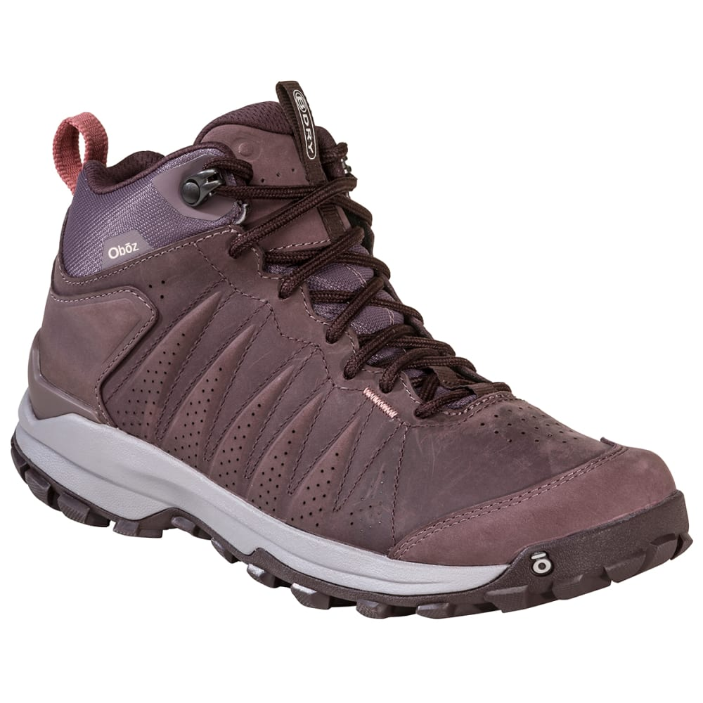 OBOZ Women's Sypes Mid Leather B-DRY Hiking Boot, Wide Width 6.5